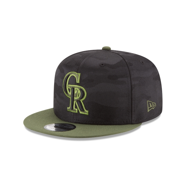 Colorado Rockies Memorial Day  9Fifty Snapback Vista izquierda tres cuartos