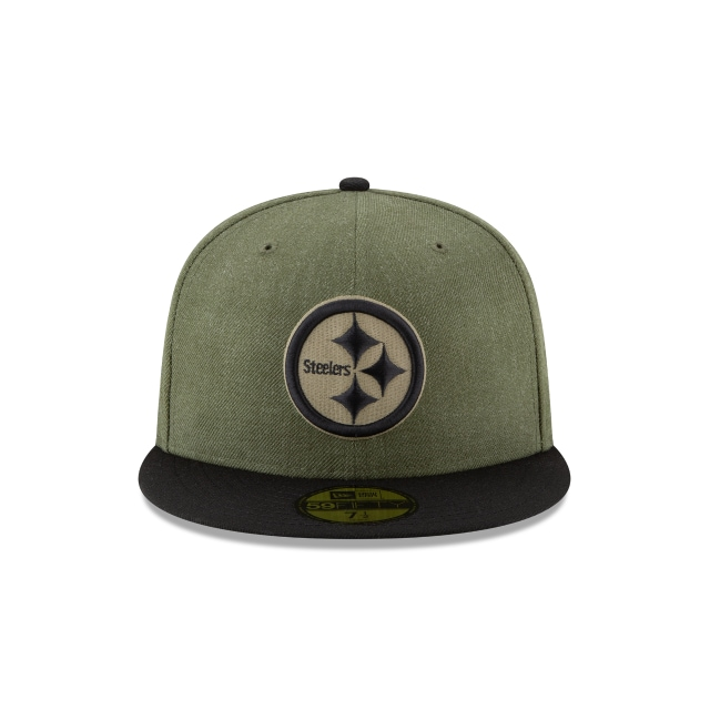 Pittsburgh Steelers Nfl Salute To Service 2018  59fifty Cerrada | Pittsburgh Steelers Caps | New Era Cap