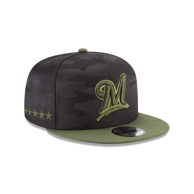 Milwaukee Brewers Memorial Day  9Fifty Snapback Vista derecha tres cuartos