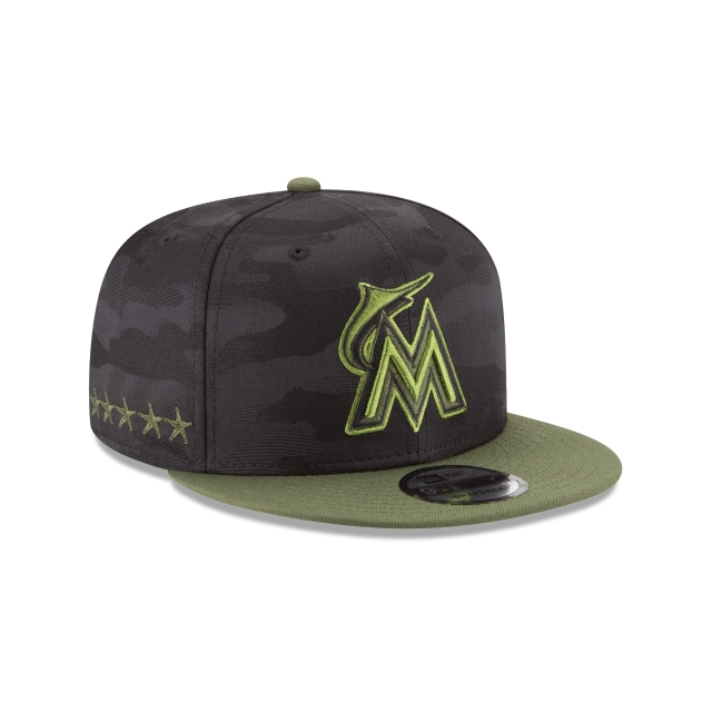 Miami Marlins Memorial Day  9Fifty Snapback Vista derecha tres cuartos
