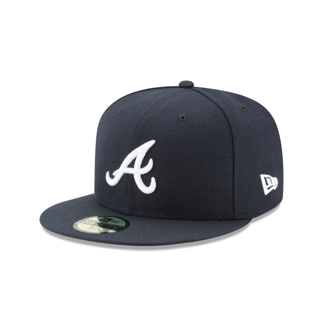 Atlanta Braves Authentic Collection 59Fifty Cerrada Vista izquierda tres cuartos