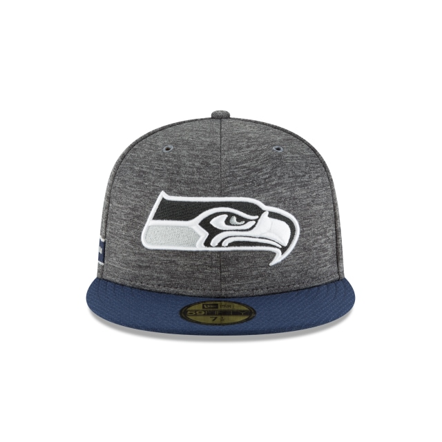 Seattle Seahawks NFL Sideline Defend 2018  59Fifty Cerrada Vista frontal