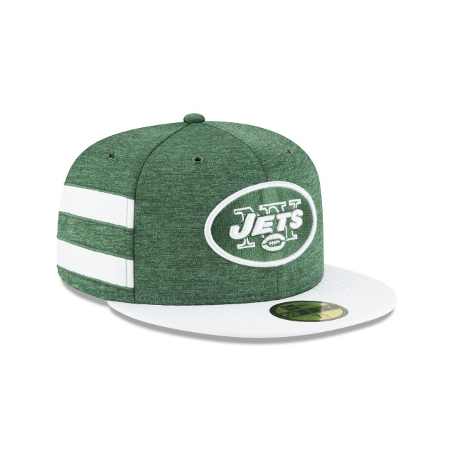 New York Jets NFL Sideline Defend 2018  59Fifty Cerrada Vista derecha tres cuartos