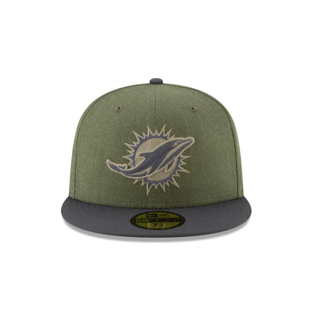 Miami Dolphins Nfl Salute To Service 2018  59fifty Cerrada | Miami Dolphins Caps | New Era Cap