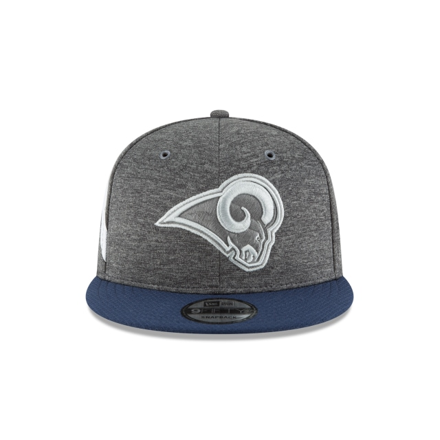 Los Angeles Rams NFL Sideline Defend 2018 9Fifty Snapback Vista frontal