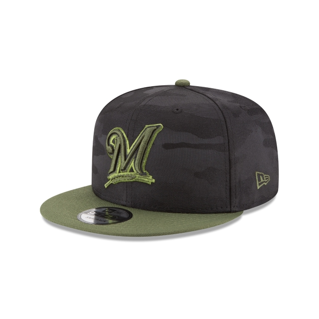 Milwaukee Brewers Memorial Day  9Fifty Snapback Vista izquierda tres cuartos