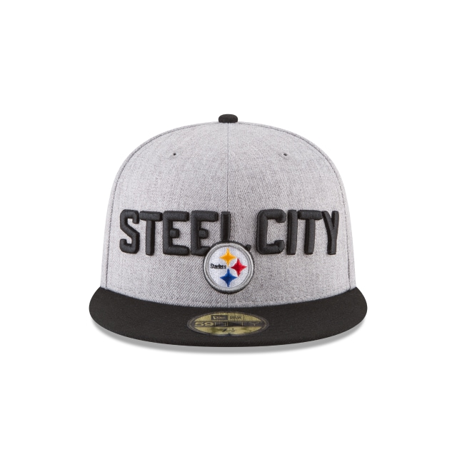 Pittsburgh Steelers Draft NFL 2018 59Fifty Cerrada Vista frontal