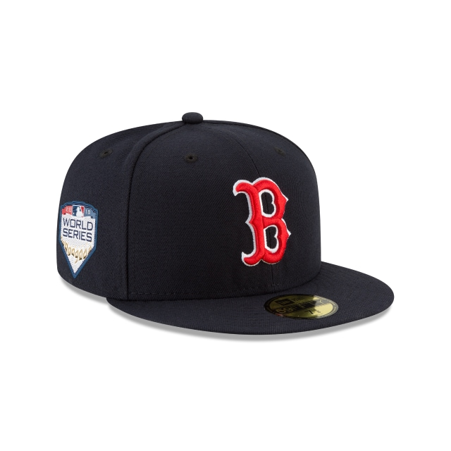 Boston Red Sox MLB Authentic Collection Parche Serie Mundial 2018 59Fifty Cerrada Vista derecha tres cuartos