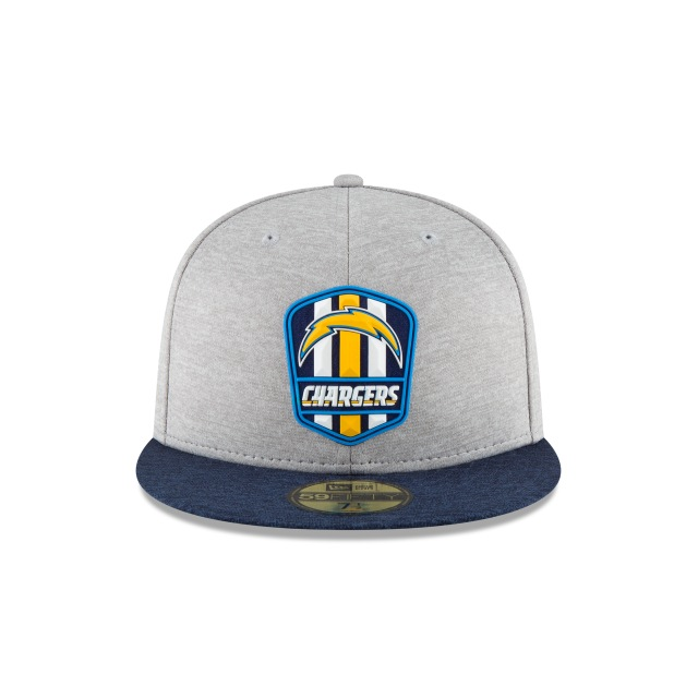 Los Angeles Chargers NFL Sideline Attack 59Fifty Cerrada Vista frontal