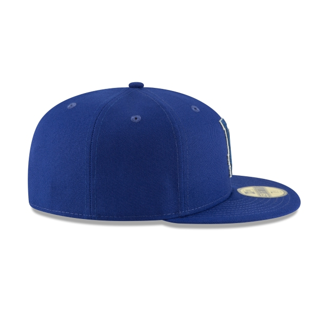 Los Angeles Dodgers Suede Patcher  59fifty Cerrada | Los Angeles Dodgers Caps | New Era Cap