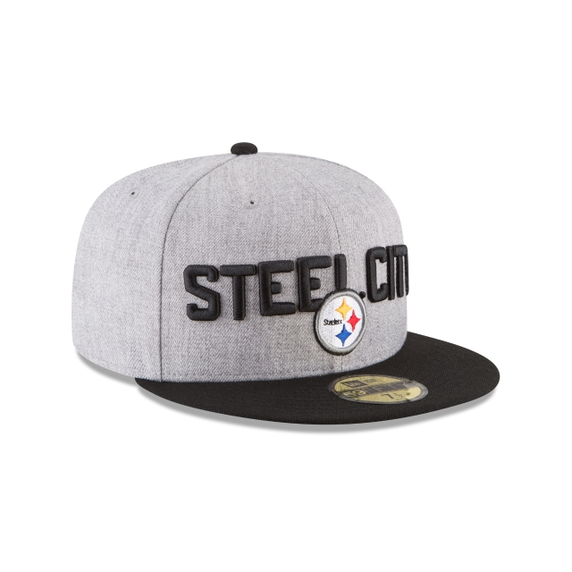 Pittsburgh Steelers Draft NFL 2018 59Fifty Cerrada Vista derecha tres cuartos