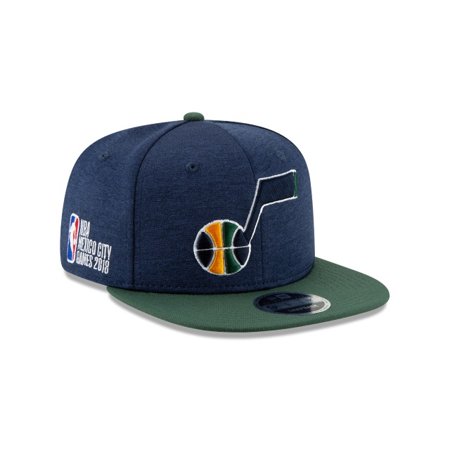 Utah Jazz NBA México City Games 2018 9Fifty OF Snapback Vista derecha tres cuartos