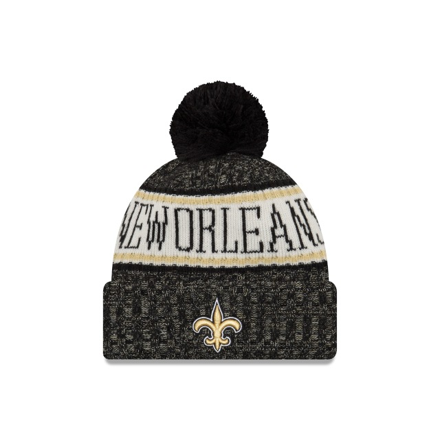 New Orleans Saints Nfl Cold Weather 2018  Knit | New Orleans Saints Caps | New Era Cap