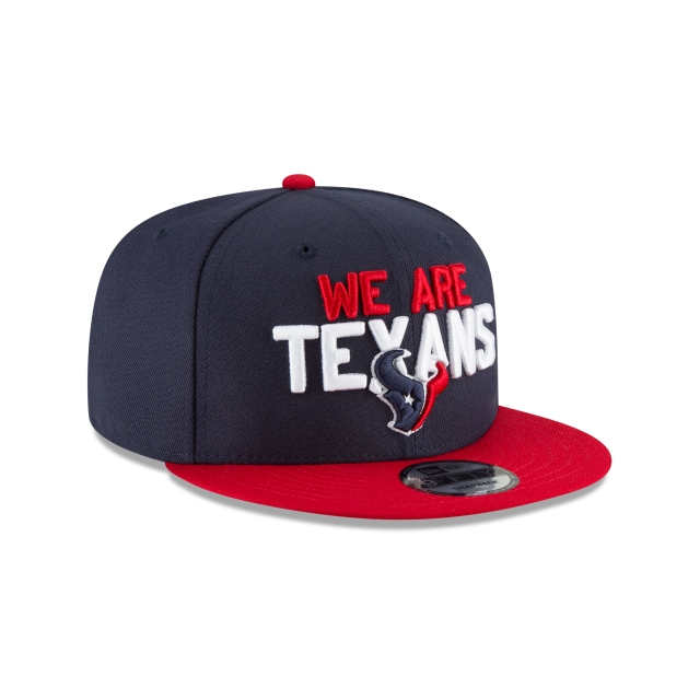 Houston Texans Draft NFL 2018 9Fifty Snapback Vista derecha tres cuartos