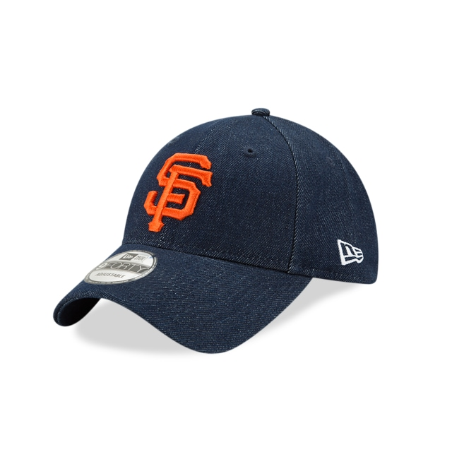 San Francisco Giants Denim Dark  9forty Strapback | New Era Cap