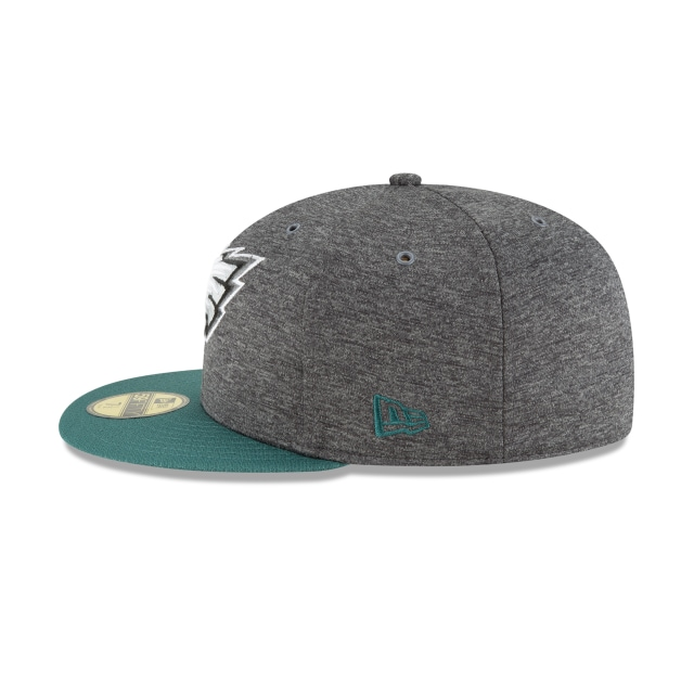 Philadelphia Eagles NFL Sideline Defend 2018  59Fifty Cerrada Vista izquierda