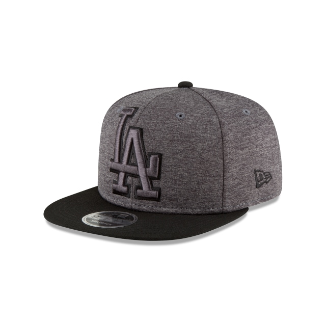 Los Angeles Dodgers Heather Huge Snap  9Fifty OF Snapback Vista izquierda tres cuartos
