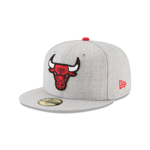 Chicago Bulls Heather Hype Fit  59fifty Cerrada | Chicago Bulls Caps | New Era Cap