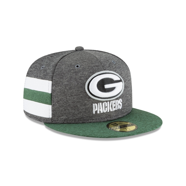 Green Bay Packers NFL Sideline Defend 2018  59Fifty Cerrada Vista derecha tres cuartos