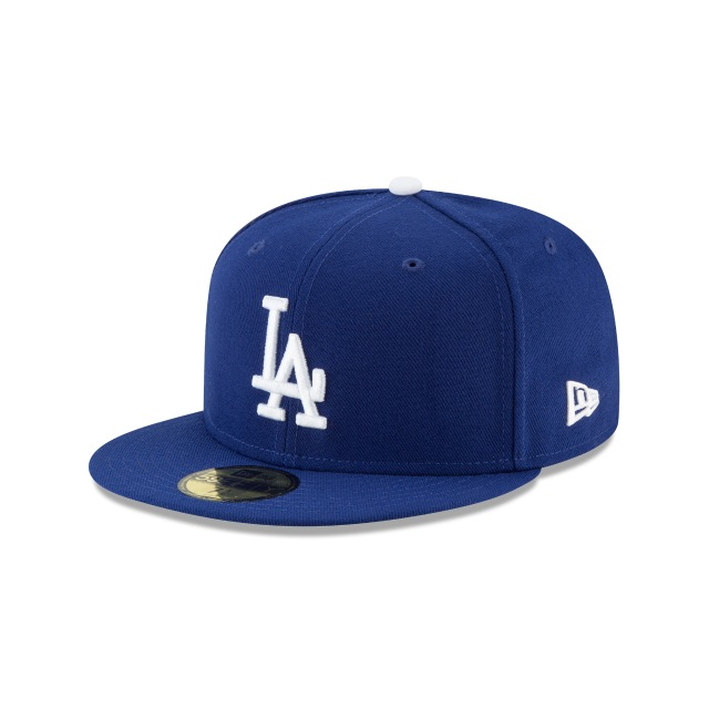 Los Angeles Dodgers Authentic Collection Parche Postseason 2018 59Fifty Cerrada Vista izquierda tres cuartos