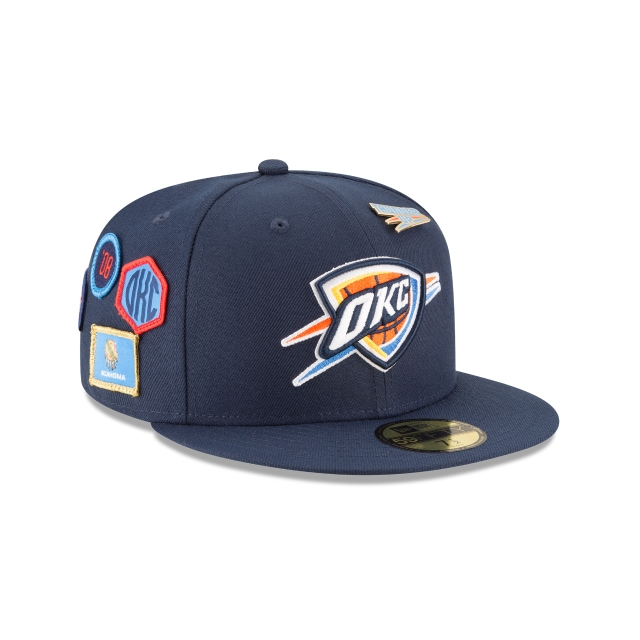 Oklahoma City Thunder NBA Draft 2018 59Fifty Cerrada Vista derecha tres cuartos