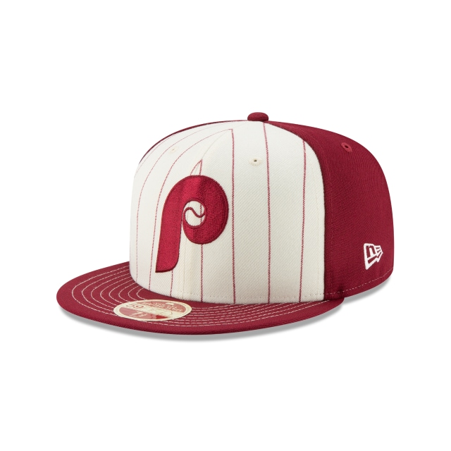 Philadelphia Phillies Injection Pack Vintage Stripe  59Fifty Cerrada Vista izquierda tres cuartos