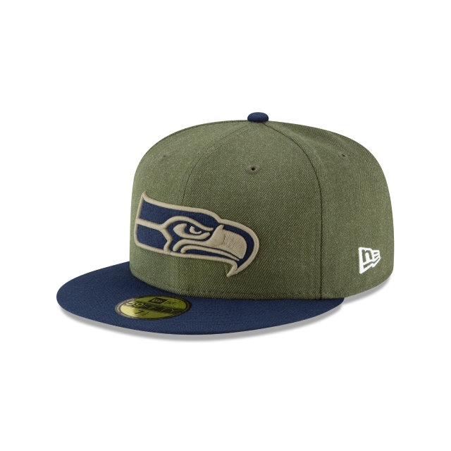 Seattle Seahawks Nfl Salute To Service 2018  59fifty Cerrada | New Era Cap