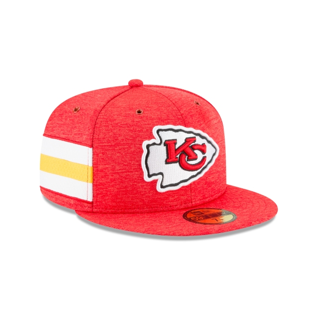 Kansas City Chiefs NFL Sideline Defend 2018  59Fifty Cerrada Vista derecha tres cuartos