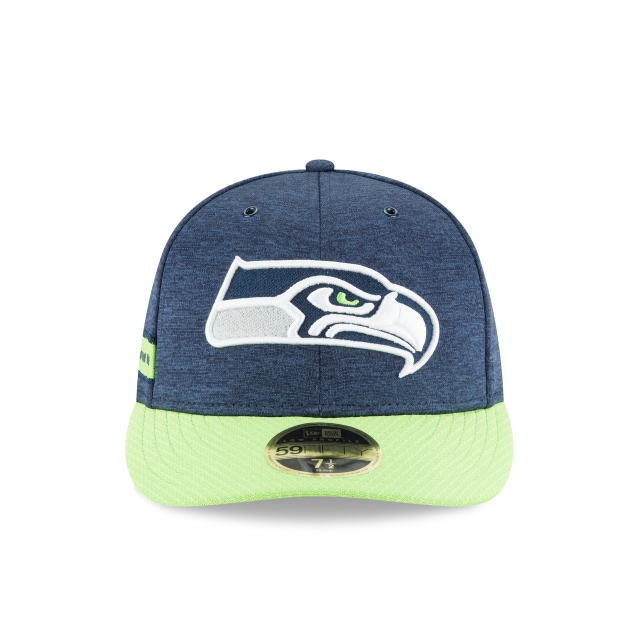 Seattle Seahawks NFL Sideline Defend 2018 59Fifty LP Cerrada Vista frontal