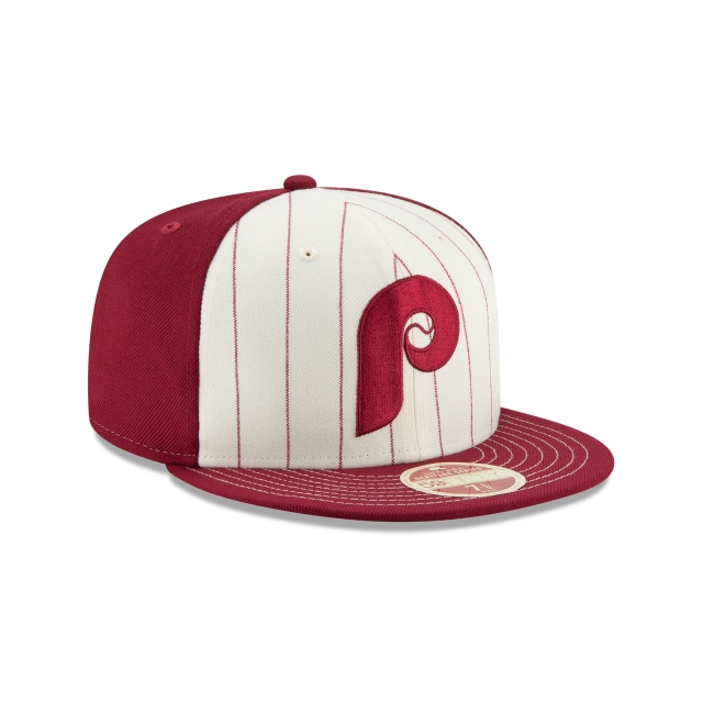 Philadelphia Phillies Injection Pack Vintage Stripe  59Fifty Cerrada Vista derecha tres cuartos