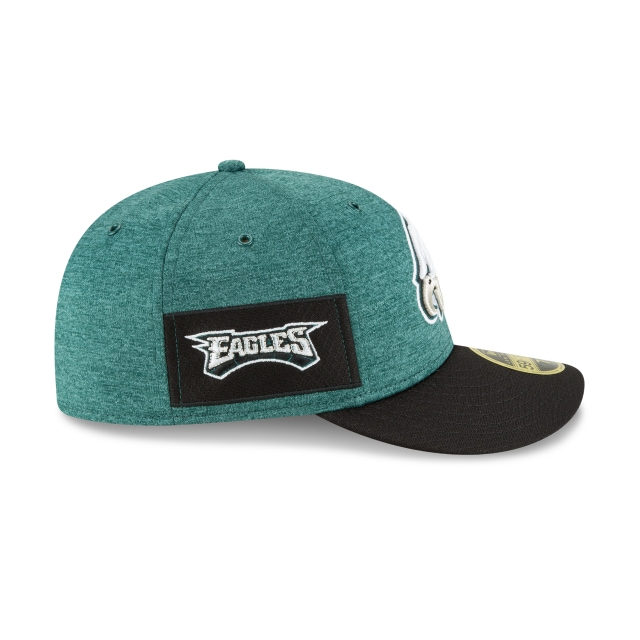 Philadelphia Eagles NFL Sideline Defend 2018 59Fifty LP Cerrada Vista derecha