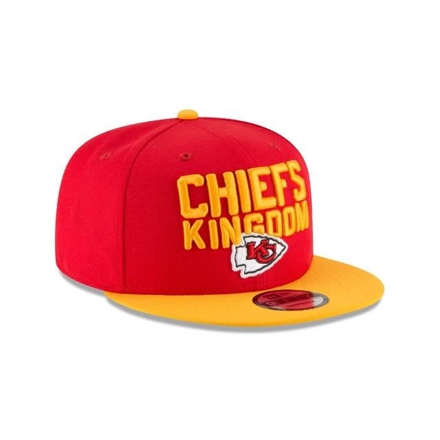 Kansas City Chiefs Draft NFL 2018 9Fifty Snapback Vista derecha tres cuartos