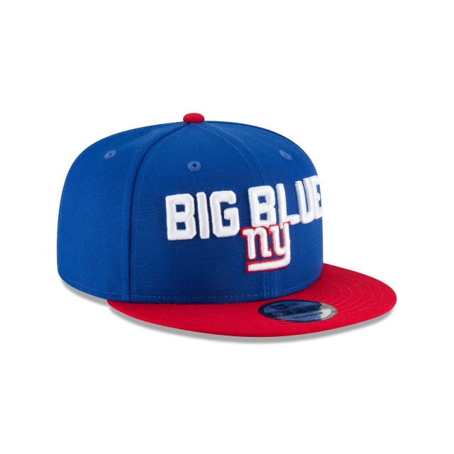 New York Giants Draft NFL 2018 9Fifty Snapback Vista derecha tres cuartos