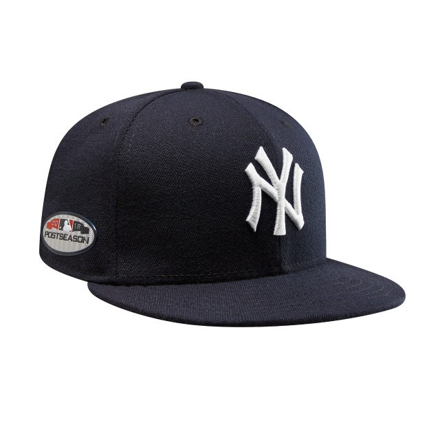 New York Yankees Authentic Collection Parche Postseason 2018 59Fifty Cerrada Vista derecha tres cuartos