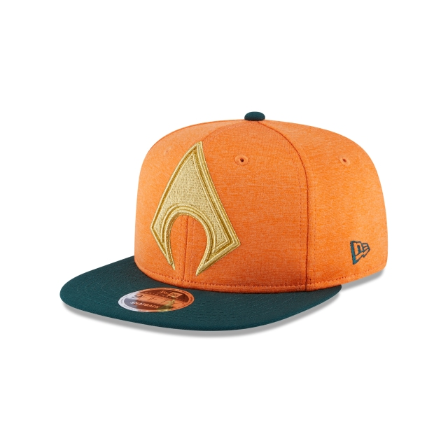 Aquaman Heather Huge Snap  9Fifty OF Snapback Vista izquierda tres cuartos
