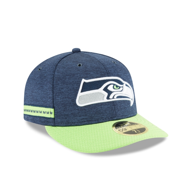 Seattle Seahawks NFL Sideline Defend 2018 59Fifty LP Cerrada Vista derecha tres cuartos
