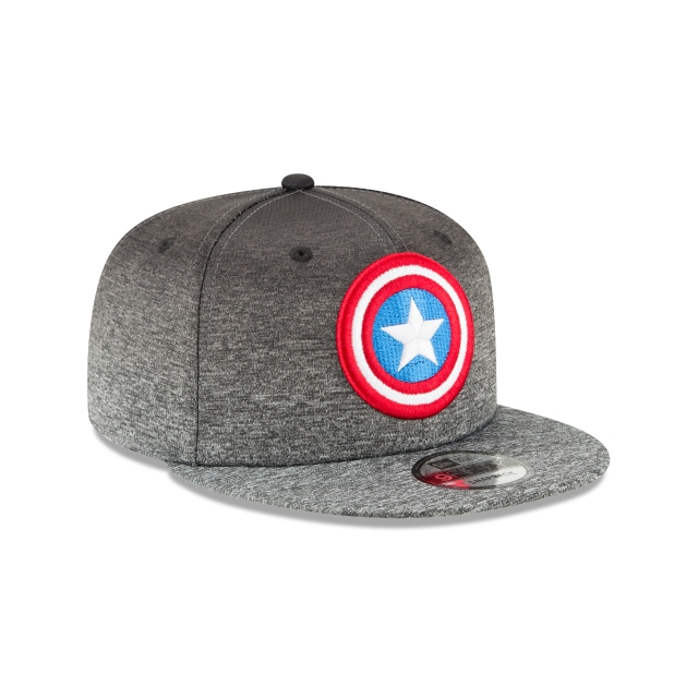 Captain America Shadow Fade 9Fifty Snapback Vista derecha tres cuartos