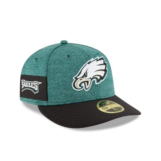 Philadelphia Eagles NFL Sideline Defend 2018 59Fifty LP Cerrada Vista derecha tres cuartos