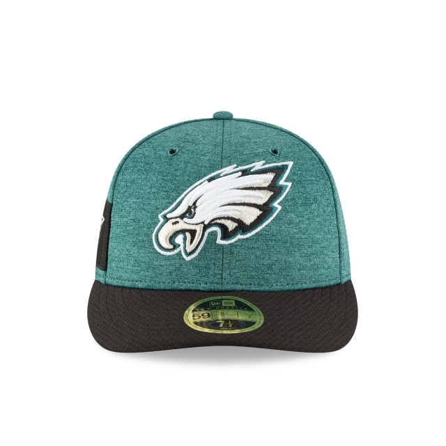 Philadelphia Eagles NFL Sideline Defend 2018 59Fifty LP Cerrada Vista frontal