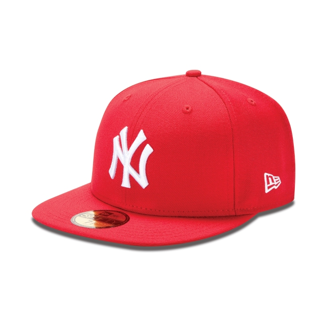 9e417627efce8 Gorra De New York Yankees Scarlet Mlb Bascis 59fifty Cerrada