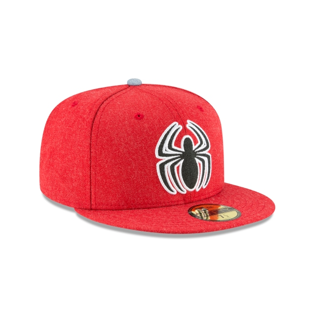 Spiderman Heather Hype Fit  59Fifty Cerrada Vista derecha tres cuartos