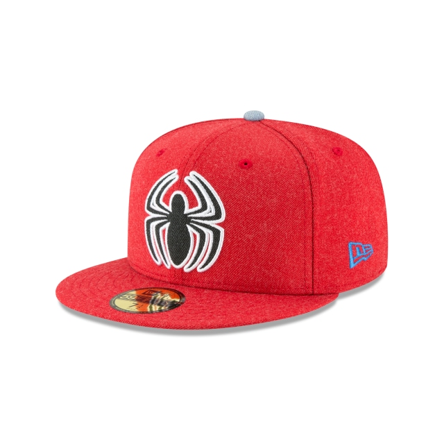 Spiderman Heather Hype Fit  59Fifty Cerrada Vista izquierda tres cuartos