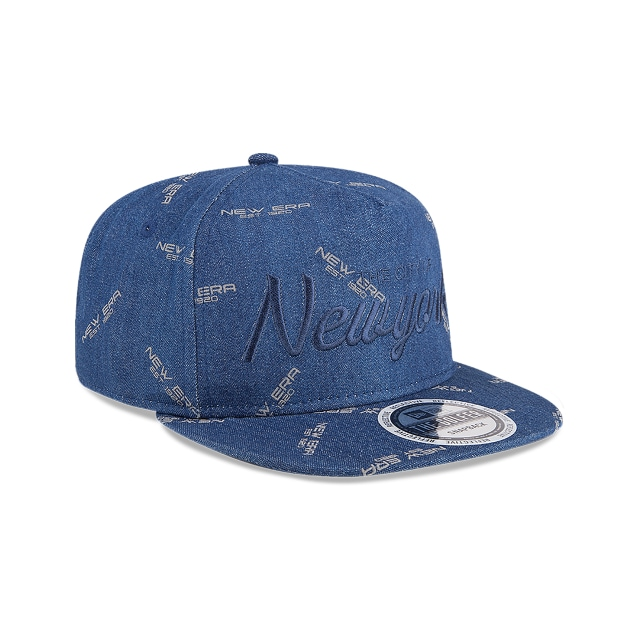 New Era The Golfer Denim Vista derecha tres cuartos