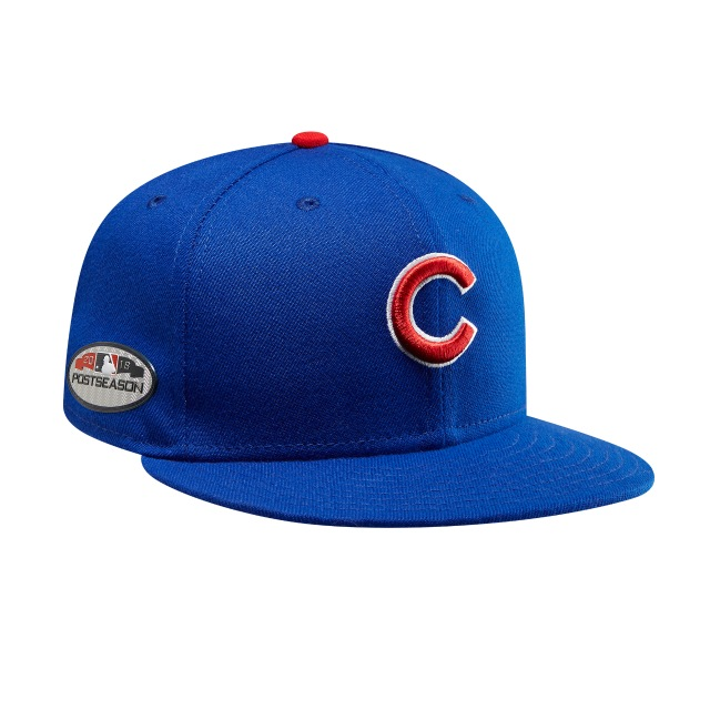 Chicago Cubs Authentic Collection Parche Postseason 2018 59Fifty Cerrada Vista derecha tres cuartos
