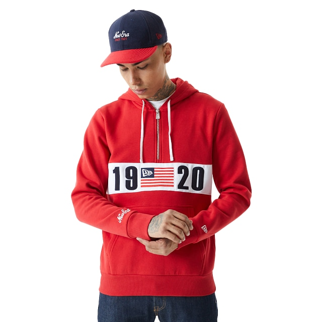 Sudadera  New Era Colour Block Frech Terry Brushed Back Fleece Roja 80% Algodón 20% Poliéster Spring21 | New Era Colour Block | New Era México
