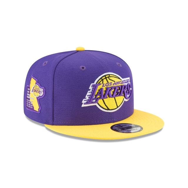 Los Angeles Lakers Side Stated 9fifty Snapback | La Lakers Caps | New Era Cap