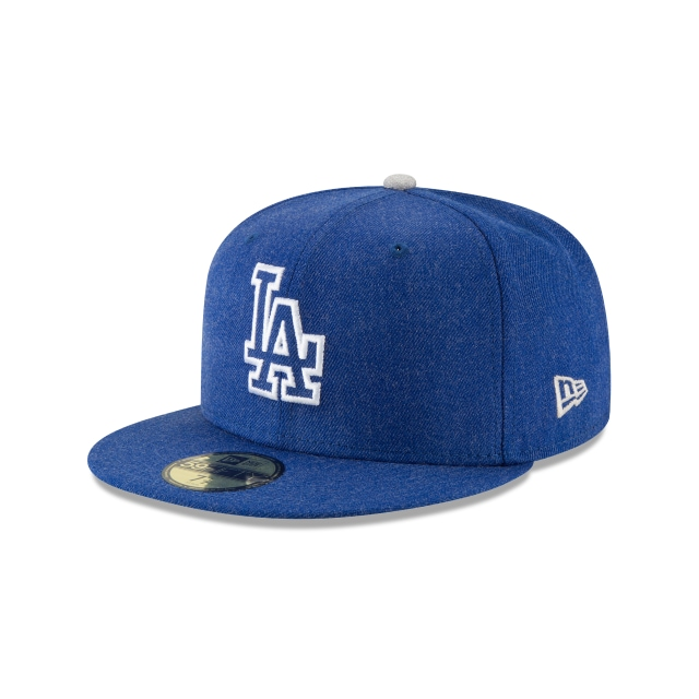 Los Angeles Dodgers Heather Hype Fit  59fifty Cerrada | New Era Cap