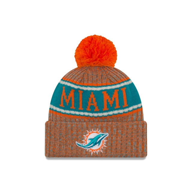 Miami Dolphins Nfl Cold Weather 2018  Knit | Miami Dolphins Caps | New Era Cap