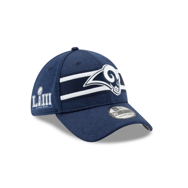Los Angeles Rams NFL Super Bowl Liii Sideline 39THIRTY Elástica | Gorras de Los Angeles Rams | New Era México