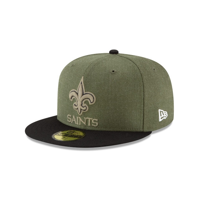 New Orleans Saints Nfl Salute To Service 2018  59fifty Cerrada | New Orleans Saints Caps | New Era Cap